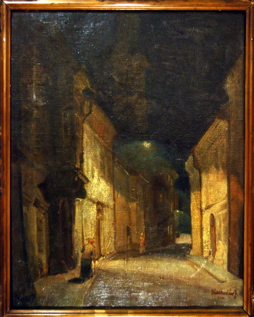 213: Mende Gusztáv (1899-1963): Street at Night