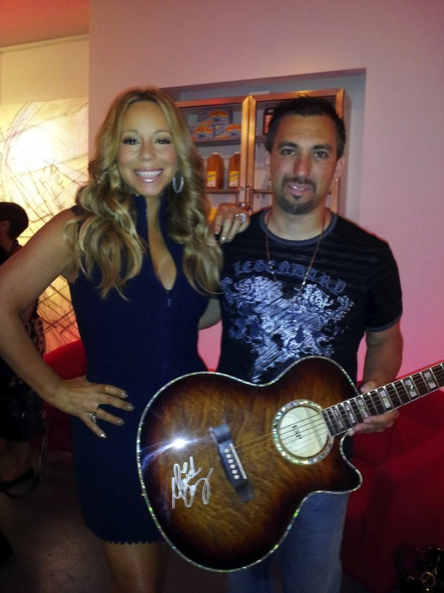 2: Mariah Carey Signed Electric Acoustic Guitar