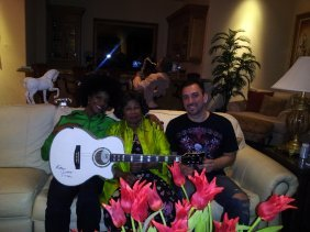 3: Katherine Jackson Signed Electric Acoustic Guitar