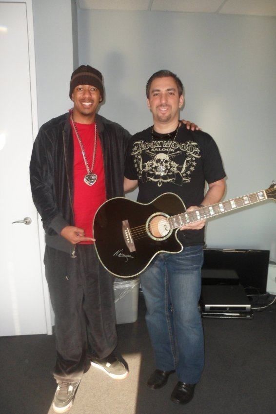 5: Nick Cannon Signed Electric Acoustic Guitar