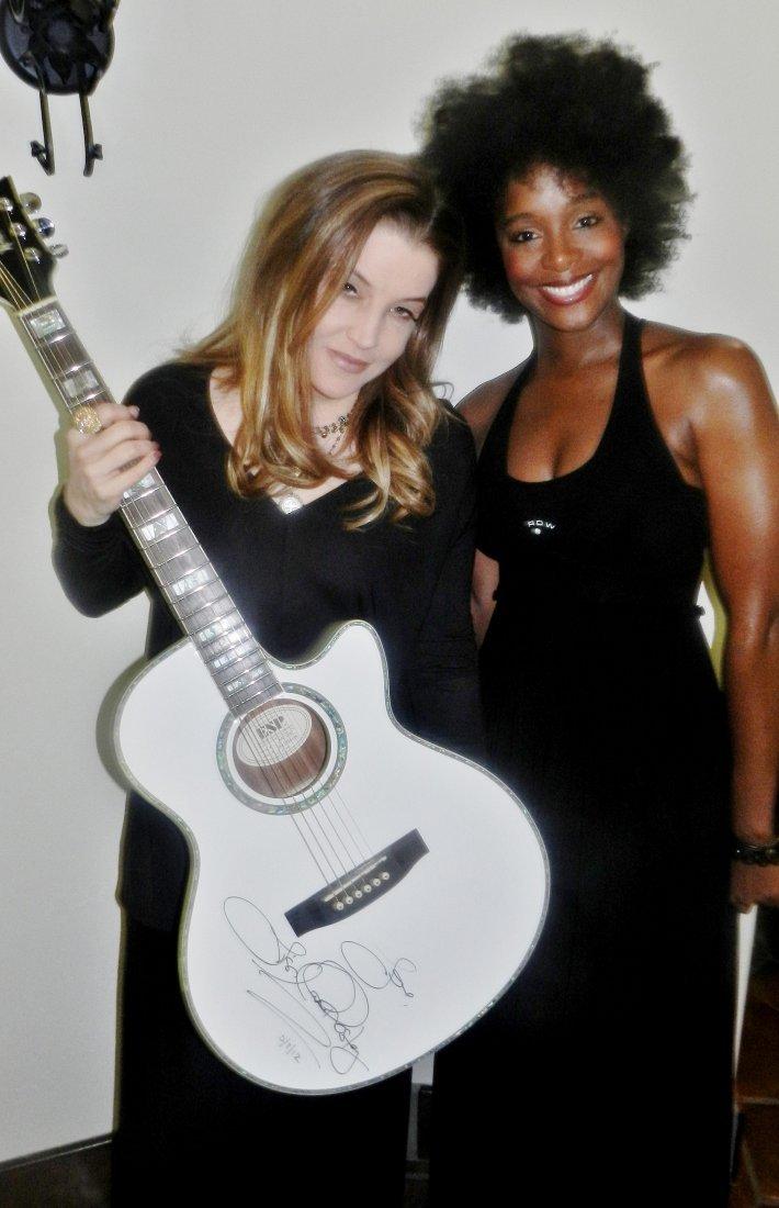 6: Lisa Marie Presley Signed Guitar