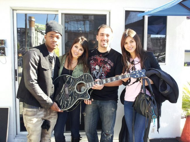 7: Nickelodeon's show Victorious Cast Signed Guitar