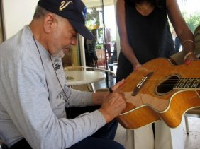 Bill Withers Signed Electric Acoustic Guitar