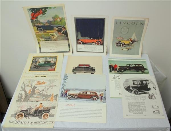 12: Museum Collection Automotive Ads 1909-1930s