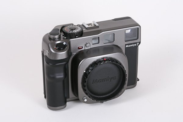 19: Mamiya 7 with body cap and accessory finder.  Missi