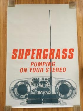 SUPERGRASS Subway poster