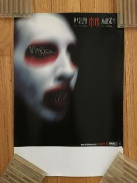 Marilyn Manson Poster - SIGNED