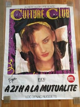Culture Club Subway Concert Poster