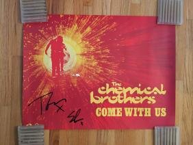 The Chemical Brothers SIGNED Promo Poster