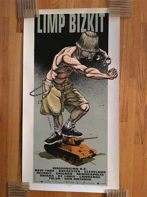 6ab57a5be Limp Bizkit on Tour With Deftones Screen Print