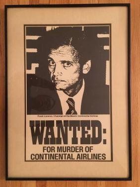 Frank Lorenzo Wanted Poster - Framed