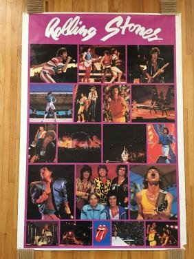 The Rolling Stones Collage Promo Poster