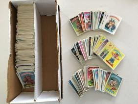 LOT OF HUNDREDS OF GARBAGE PAIL KIDS CARDS, STICKERS