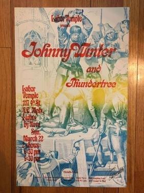 LABOR TEMPLE POSTER - Johnny Winter