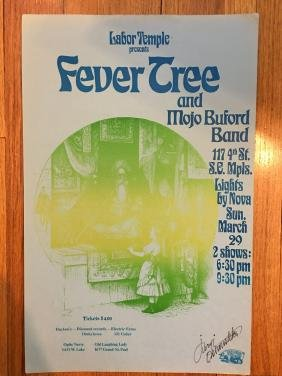 LABOR TEMPLE POSTER - Fever Tree & Mojo Buford Band