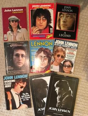 A Collection of 7 John Lennon Books and 2 Calendars