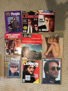 A Collection of 9 John Lennon Magazines