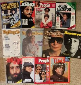 A Collection of 12 John Lennon Magazines