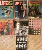 A Collection of 7 Beatles Magazines and Beatles