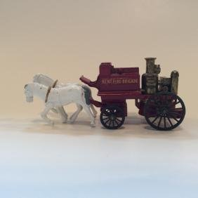 Lesney Kent Fire Brigade No. 4 Horse Buggy Toy