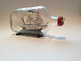Robin Hood's Bay ship in a bottle