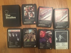 COLLECTION of 9 VINTAGE BEATLES 8-TRACK TAPES