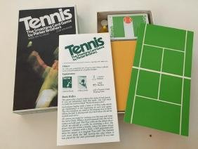 TENNIS CARD / BOARD GAME by Parker