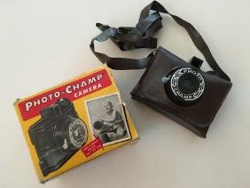 PHOTO CHAMP VINTAGE CAMERA and Box