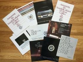 CADILLAC Automobile Advertising Brochures