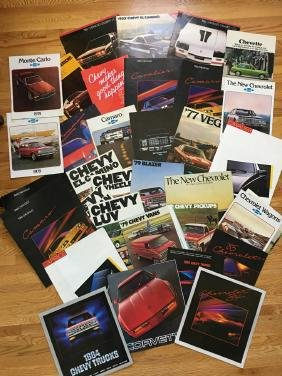 CHEVY Automobile Advertising Brochures