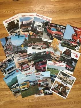 GMC Automobile Advertising Brochures