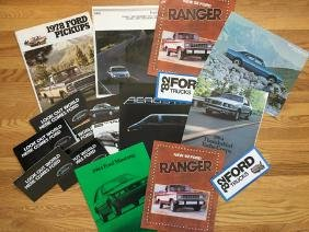 FORD Automobile Advertising Brochures