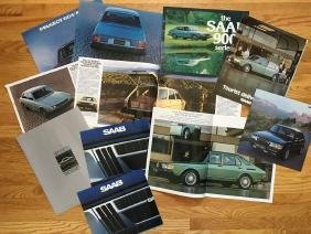 PEUGEOT - SAAB Automobile Advertising Brochures