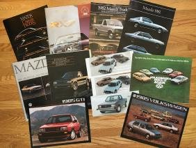 MAZDA - VOLKSWAGEN Automobile Advertising Brochures