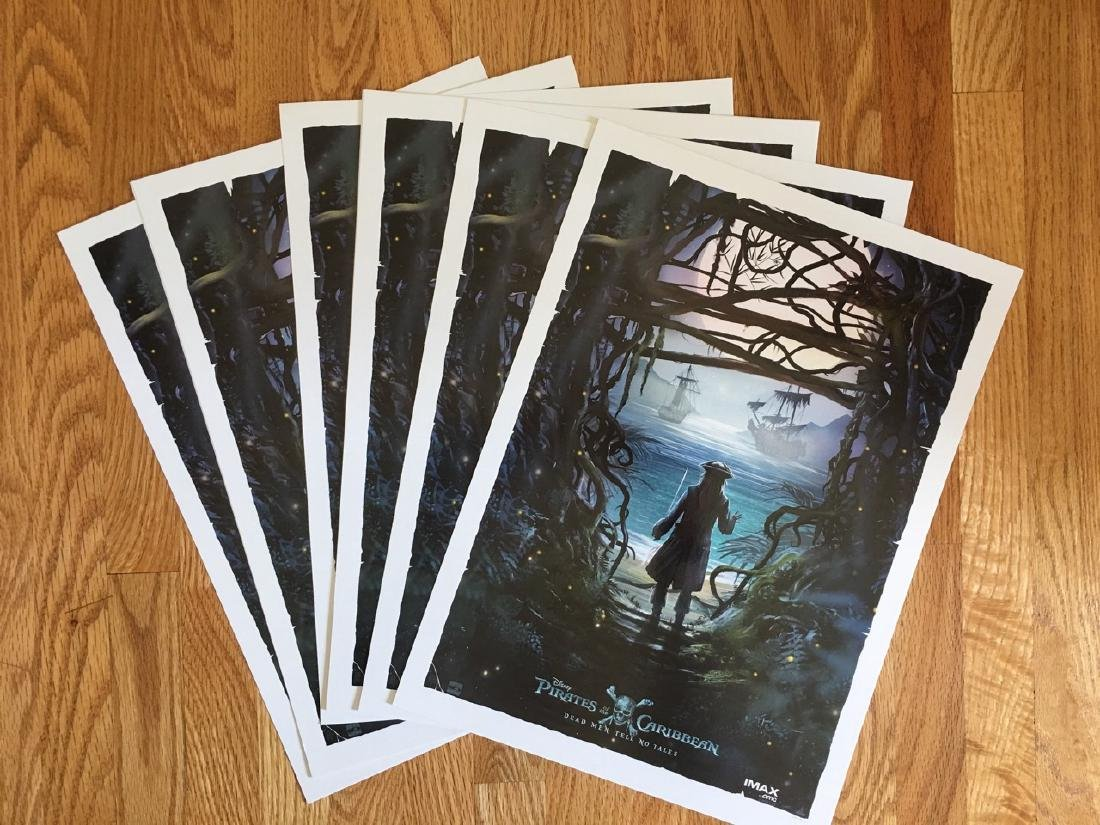 PIRATES OF THE CARIBBEAN POSTER LOT