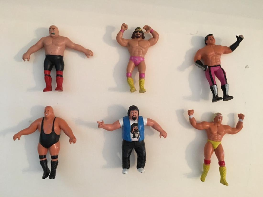 VINTAGE WWF WRESTLING RUBBER CHARACTERS