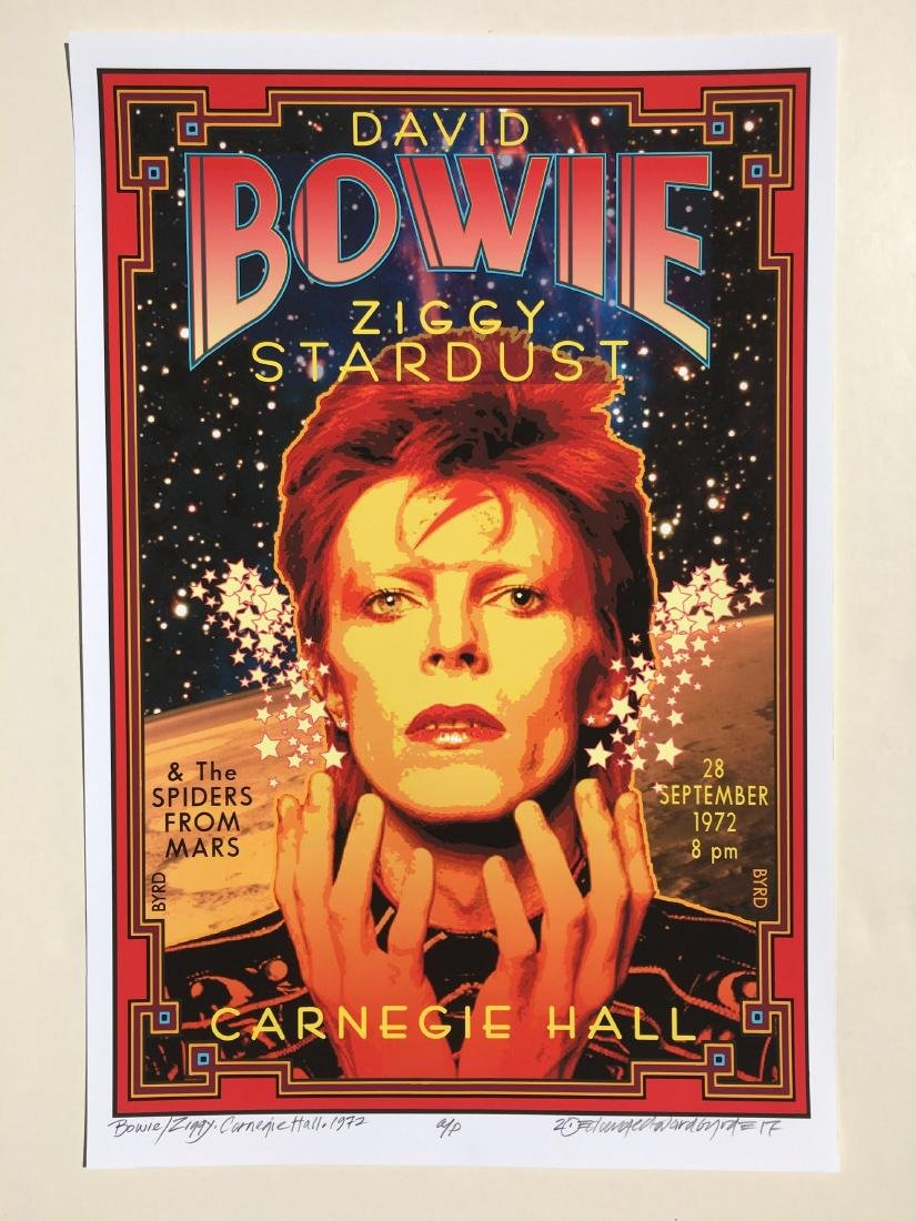 DAVID BYRD - David Bowie 1972 - Signed Artists Proof