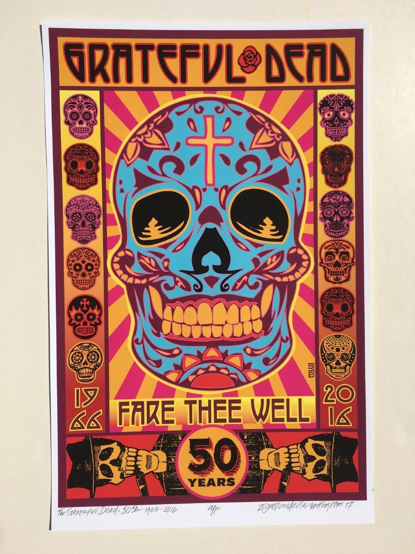 DAVID BYRD - Grateful Dead 50th - Signed Artists Proof