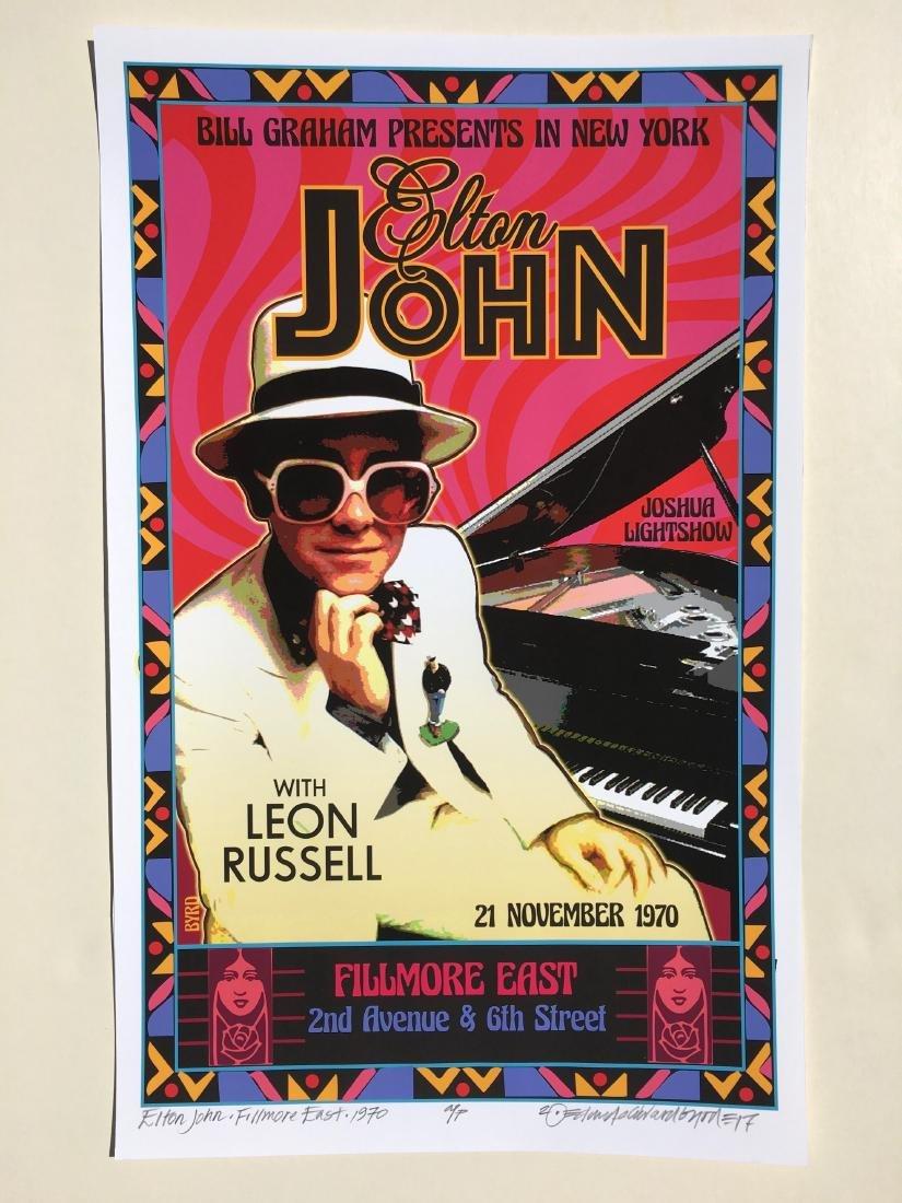 DAVID BYRD - Elton John 1970 - Signed Artists Proof