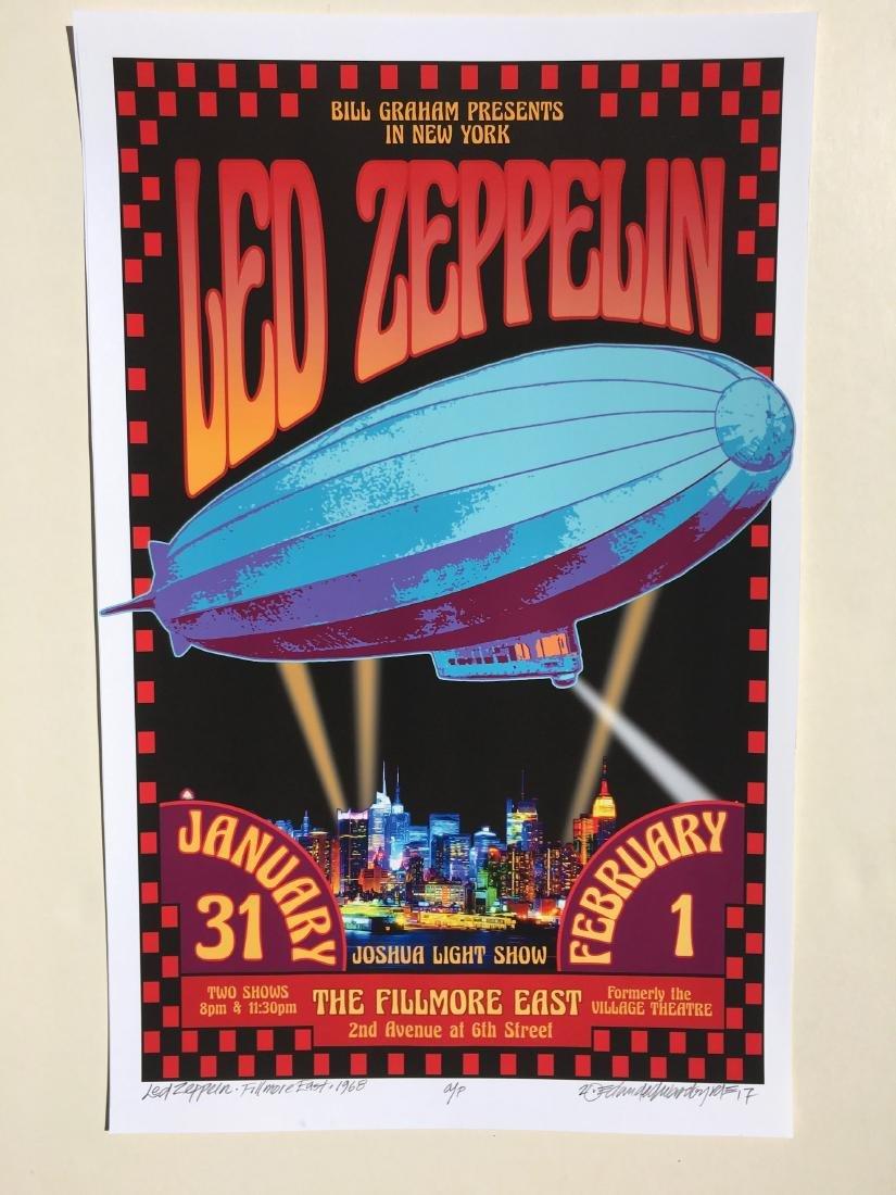 DAVID BYRD - Led Zeppelin 1969 - Signed Artists Proof