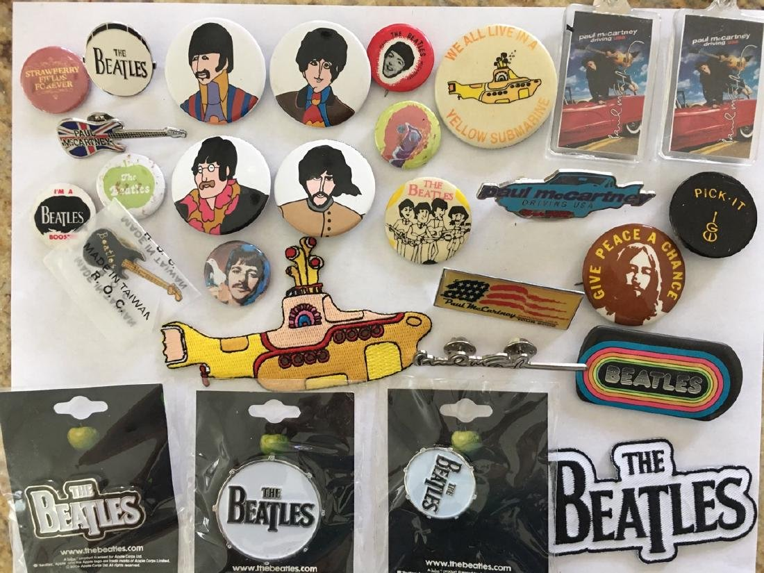 BEATLES PIN COLLECTION - VINTAGE TO MODERN