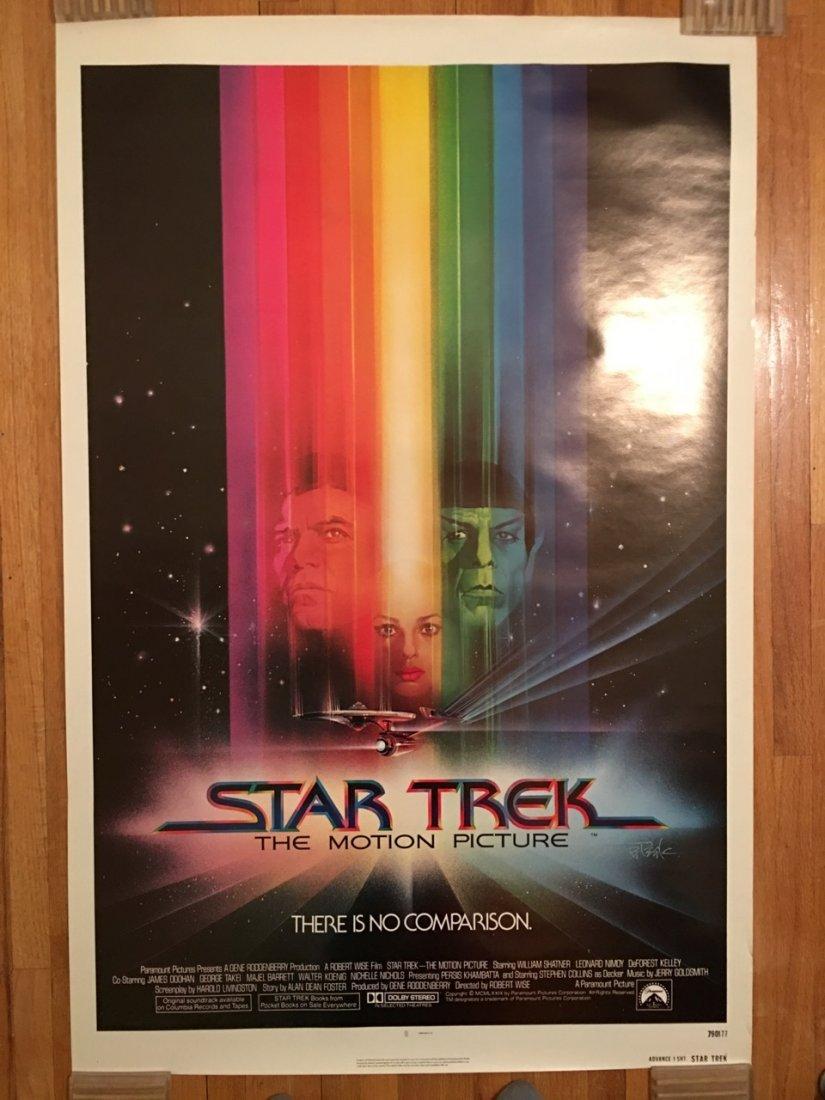 STAR TREK Original NEAR MINT Rolled advanced one sheet