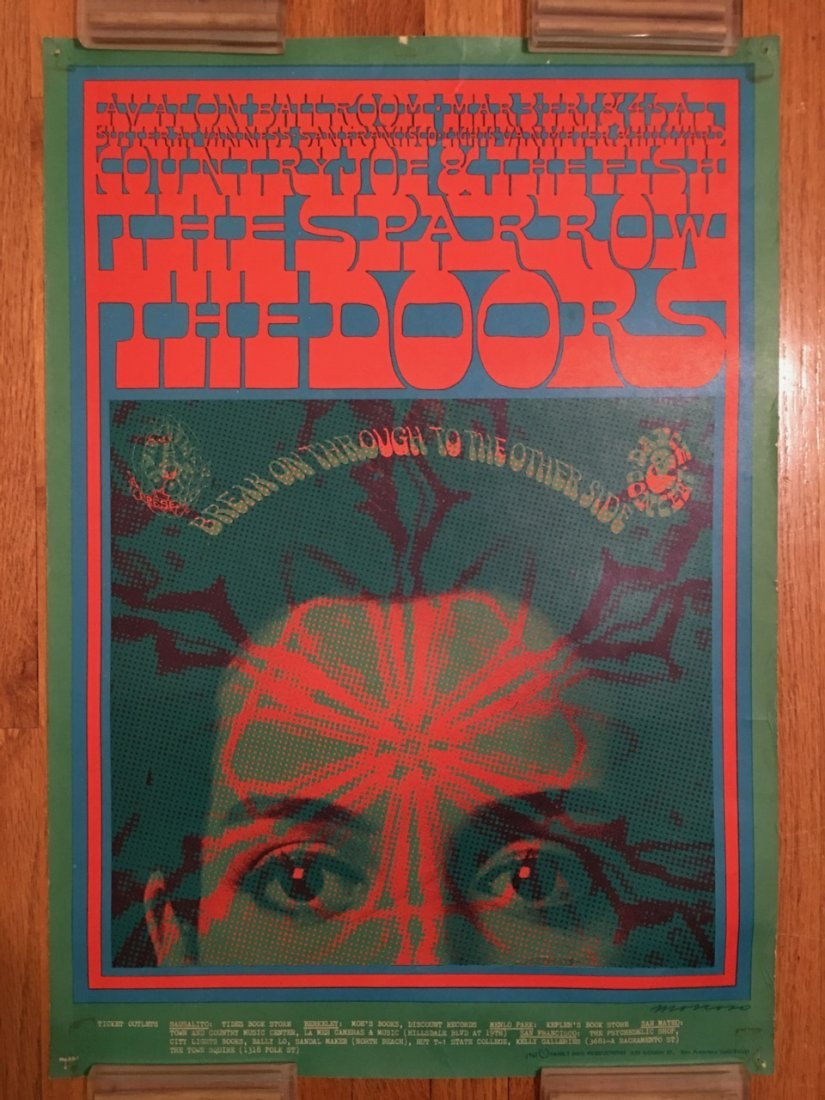 & THE DOORS POSTER ! AVALON BALLROOM - FD050 2nd-A