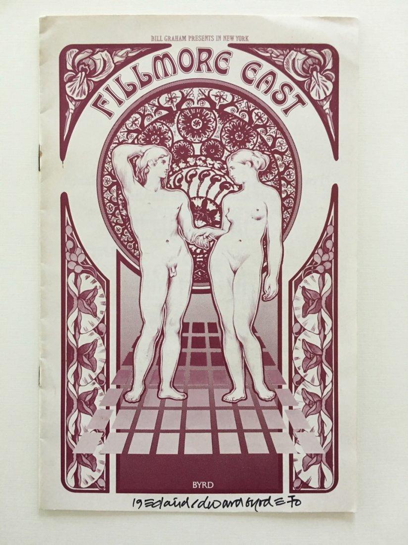 FILLMORE EAST PROGRAM - SIGNED BY DAVID BYRD