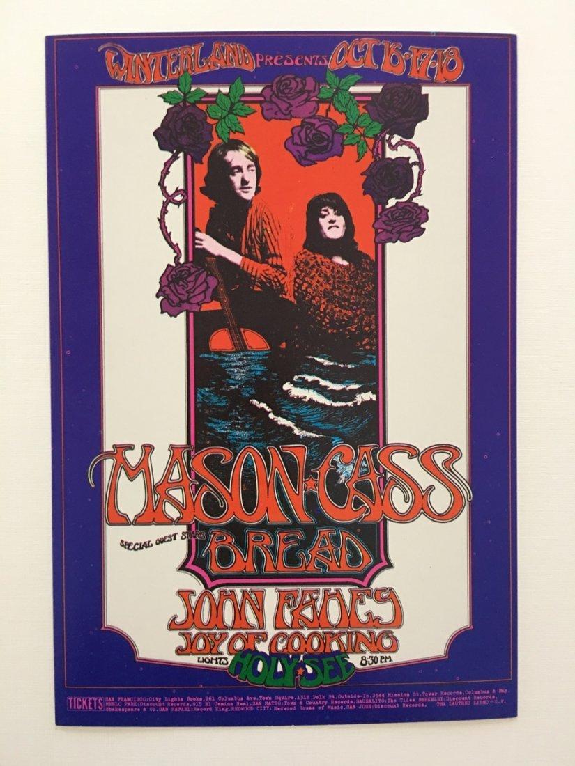 Dave Mason-Mama Cass-Bread VTG 1970 Winterland - RARE