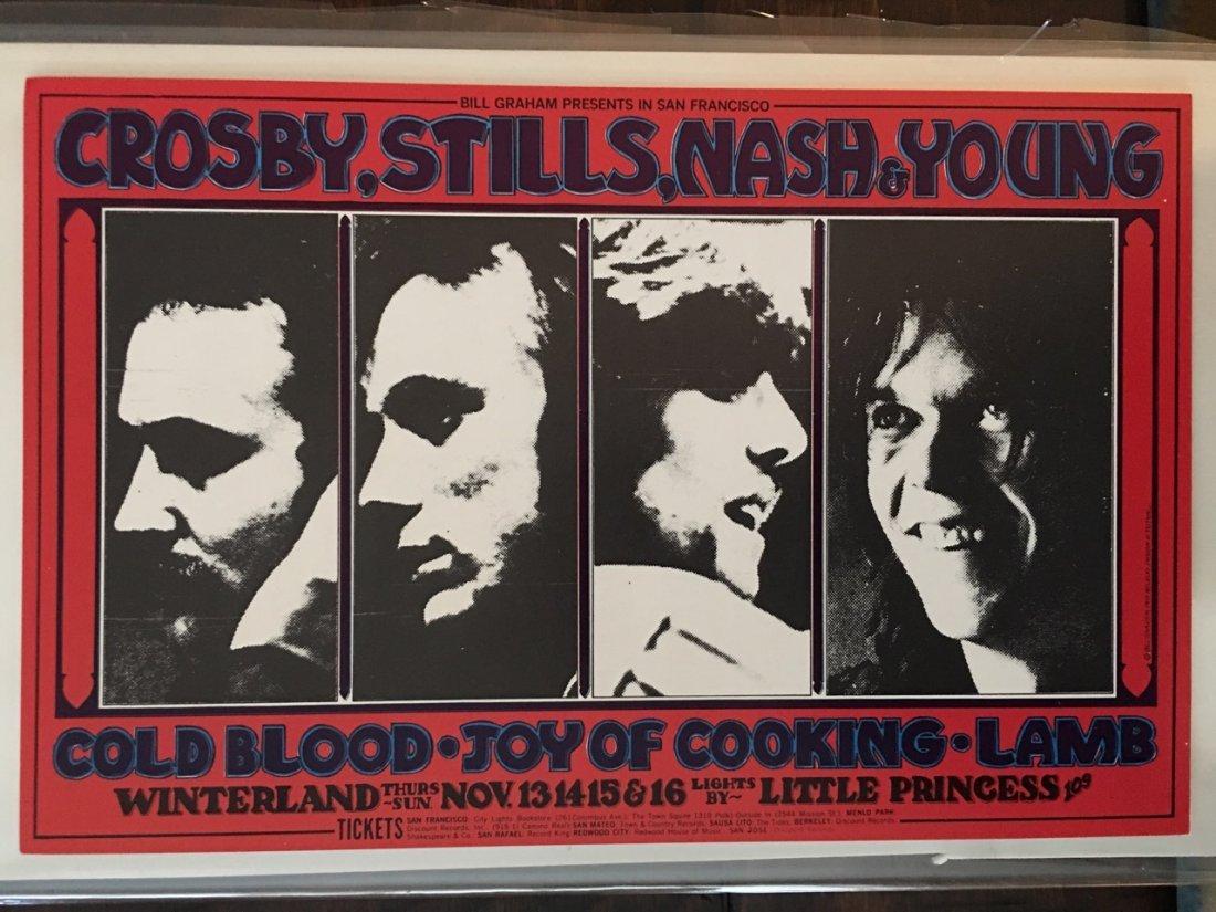 Crosby, Stills, Nash & Young Handbill - BG200 - 1st
