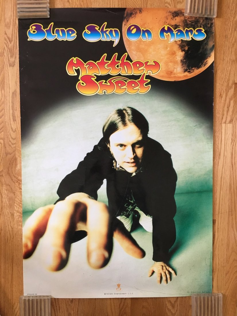 MATTHEW SWEET - BLUE SKY ON MARS - PROMO POSTER