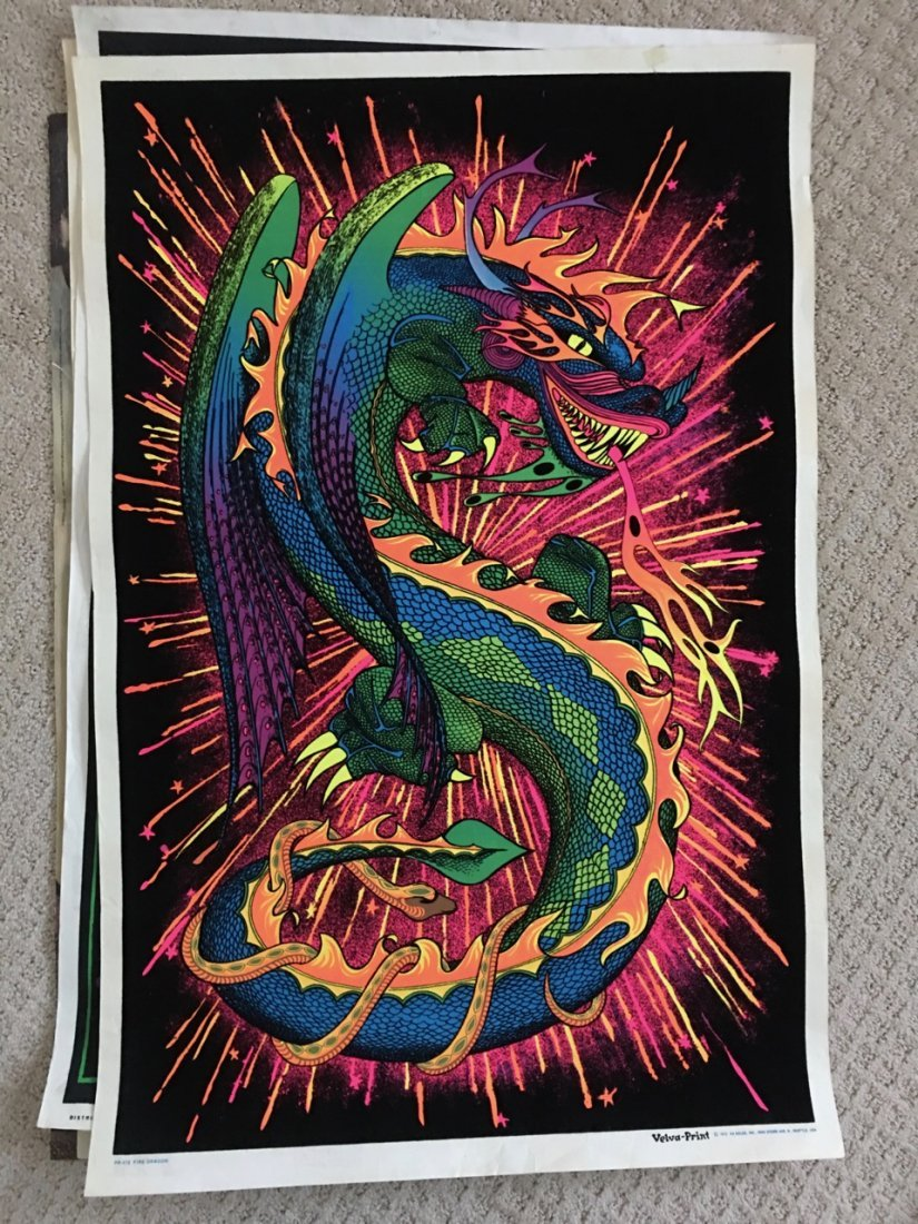 FIRE DRAGON - BLACKLIGHT POSTER