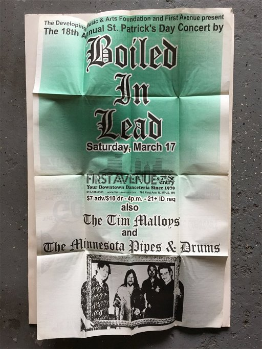 BOILED IN LEAD at FIRST AVE IN MINNEAPOLIS - Sep 16, 2017
