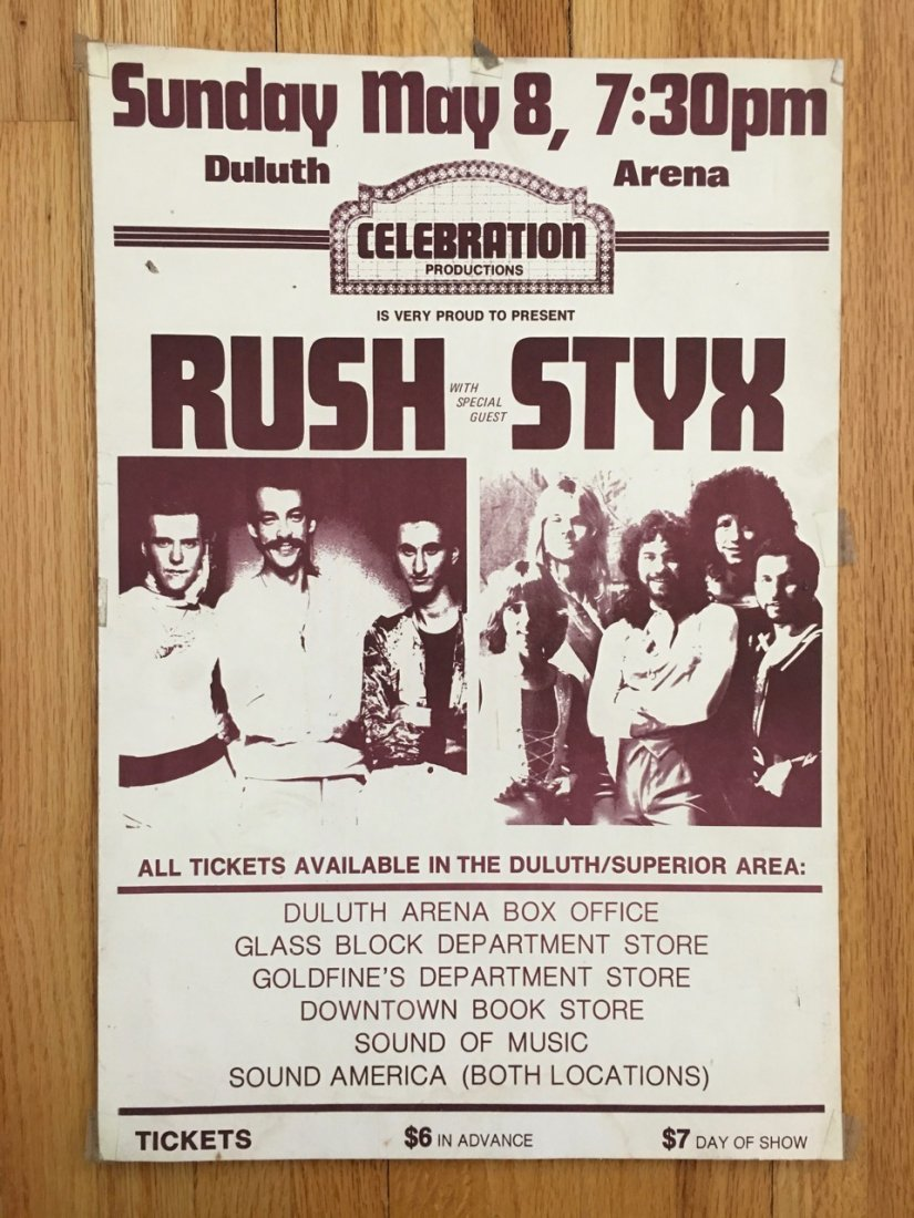 RUSH AND STYX AT THE DULUTH ARENA